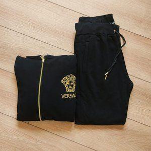 Versace Black 100%Cotton Sweetpants